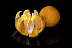 Two tasty fresh oranges Stock Photography