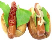 Two tasty hot dog Stock Image