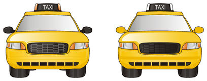 Two taxi cars Stock Image