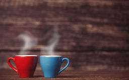 Two tea or coffee cup Royalty Free Stock Photos