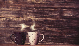 Two tea or coffee cup Royalty Free Stock Images