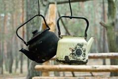 Two tea-pots Stock Image