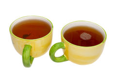 Two teacups with tea Royalty Free Stock Photos