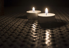 Two Tealights Royalty Free Stock Images