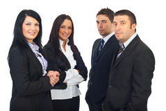 Two teams of business people Royalty Free Stock Photo