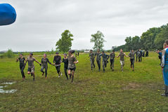 Two teams finish in cross-country race.Tyumen Stock Image