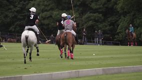 Two teams play together in Polo.  stock video footage