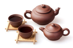 Two teapot and two cups Stock Photography
