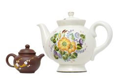 Two teapots Royalty Free Stock Photos