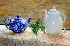 Two Teapots Still Life Royalty Free Stock Photos