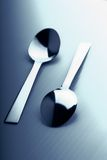 Two teaspoons Stock Image