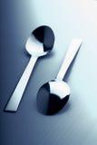 Two teaspoons stock image