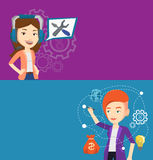 Two technology banners with space for text. Royalty Free Stock Image