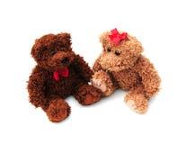 Two teddies Stock Photos