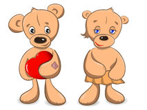 Two of teddy bears Stock Photography