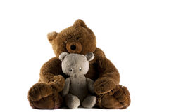 Two Teddy Bears. On a white background Royalty Free Stock Images