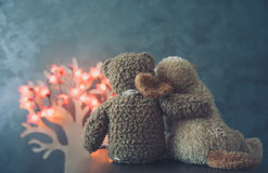 Two teddy bears in love Royalty Free Stock Images