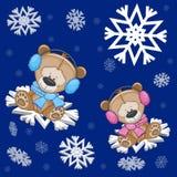 Two Teddy Bears Stock Image