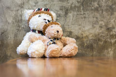 Two teddy bears toy Royalty Free Stock Photos
