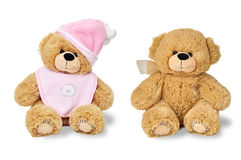 Two teddy bears - twins Royalty Free Stock Photos