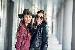 Two Teen Girl Friends Laughing. Stock Image