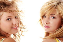 Two teen girlfriends Royalty Free Stock Photos