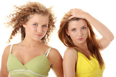 Two teen girlfriends Royalty Free Stock Photography