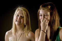 Two teen girls - best friends forever! Royalty Free Stock Photo