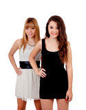 Two teen sisters isolated Royalty Free Stock Photo