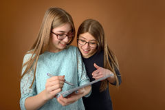 Two teen young friends Stock Photography