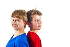Two teenage friends enjoy life Royalty Free Stock Photos