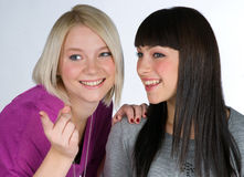 Two teenage girlfriends Royalty Free Stock Photos
