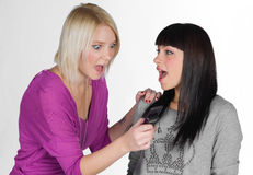 Two teenage girlfriends Royalty Free Stock Images