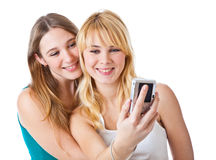 Two teenage girls Stock Photo