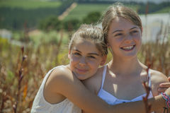 Two teenage girls Stock Images