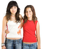 Two teenage girls  Royalty Free Stock Photo