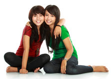 Two teenage girls best friend Stock Image