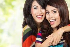 Two teenage girls best friends Stock Photo