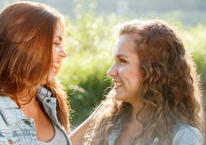 Two teenage girls Stock Photography