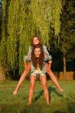 Two teenage girls Stock Photography