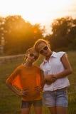Two teenage girls Stock Photo