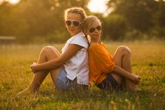 Two teenage girls Royalty Free Stock Photos