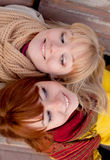 Two teenage girls outdoors Royalty Free Stock Photography