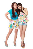 Two teenage girls. Portrait of attractive two teenage girls hugging each other Stock Photography