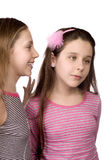 Two teenage girls sharing secrets Royalty Free Stock Photos