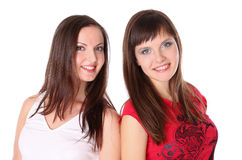 Two teenage girls smiling Royalty Free Stock Photo