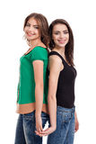 Two teenage girls smiling Royalty Free Stock Photography