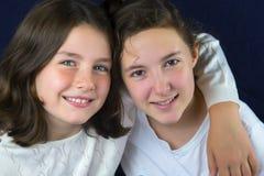 Two teenage girls talking Stock Photo