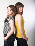 Two teenage girls together Royalty Free Stock Photos