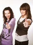 Two teenage girls together Stock Photo